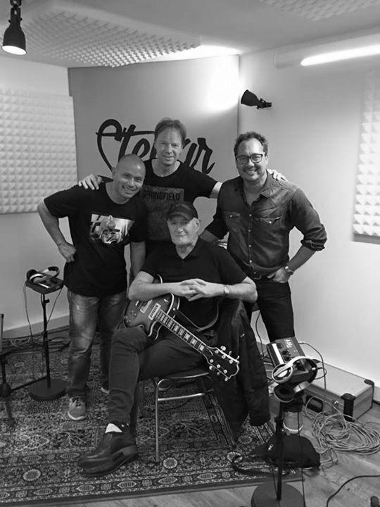 Studiosessie met Johnny Bernhard, Jan Akkerman en Eric Coenen ( oktober 2015)
